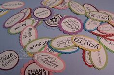 Make these ahead of time ready for a card organ stamp, paper craft, organizing tips, diy craft, card, scrapbook, sentiment tag, stamp sentiment, sentiment stamp