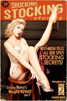 being a girl, pin up poses, magazine covers, mosh, shock stock, cover art, pin up models, pulp fiction, luxury lingerie