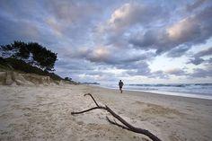 Runner running on the beach at Byron Bay #running #runsmart