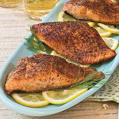 Chili Rubbed Salmon - super easy