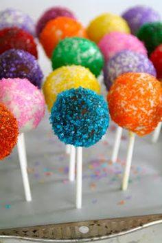 Cake pops med perlesukker