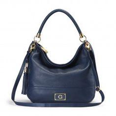 Pebbled Leather Crossbody Hobo Bag