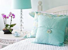 blue pillow is cute