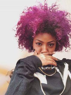 Purple curls....yes.