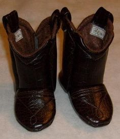 Hey, I found this really awesome Etsy listing at http://www.etsy.com/listing/89105418/baby-cowboy-boots-dark-brown-leather