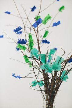 Crepe Paper Fringe Bouquet