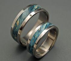 Starry Starry Night  Wooden Wedding Rings by MinterandRichterDes.