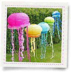 jellyfish lantern, diy lantern