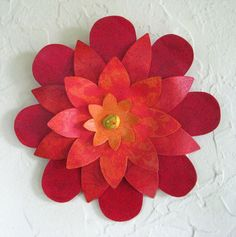 Art sculpture wall decor metal flower by frivoloustendencies, $75.00