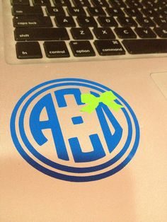 Alpha Xi Delta Circle Monogram Decal With A Bow