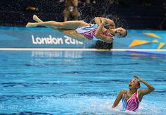Synchronised swimming: China competes in the Women's Teams Synchronised Swimming