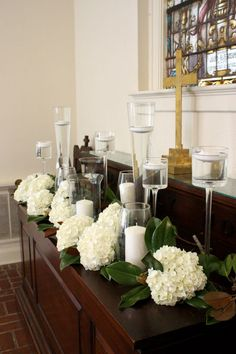 altar inspiration: hydrangeas & candles