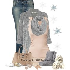 It's a pretty in pink Winter Day, created by cindycook10 on Polyvore