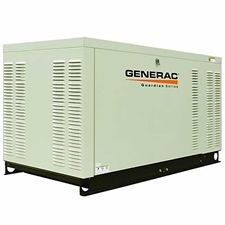 Generac Guardian Series 25 kW Emergency Standby Power Generator.    The 25kW liquid cooled becomes a smart choice when you need a little extra power to muscle thru multiple air conditioners or if you live in a hot climate and the generator is running at or above 50% duty factor regularly.     We like this 25kW model because of the smaller footprint and cost penalties compared to other liquid cooled models. It has been in production for some time and has proven itself to be a reliable.