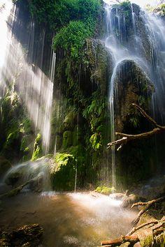 Gorman Falls in Spring, Colorado Bend State Park, Texas