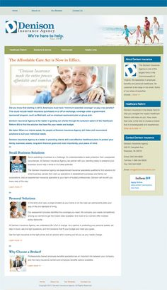 Healthcare Reform Solutions - Denison Insurance Agency. Customized WordPress theme, site development, search engine optimization, and submission. Design by Sue England at http://www.senglanddesign.com. wordpress theme, healthcar reform, insur agenc, custom wordpress, search engine optimization, engin optim