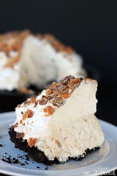 Homemade Butterfinger ice cream pie!