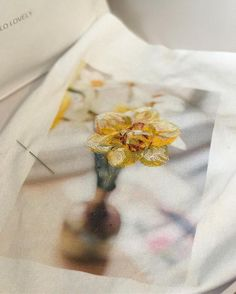 Stitched fabric phot
