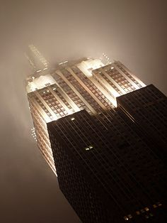 Empire State Building in the mist