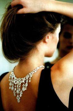 wedding dressses, fashion, statement necklaces, diamonds, dresses