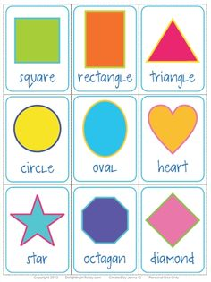 Free Shape Flashcards Download and Printable || Delighting in Today