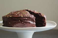 chocolate & sour cream cake | london bakes