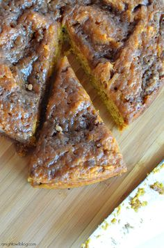 Easy Crock Pot Pumpkin Coffee Cake at anightowlblog.com