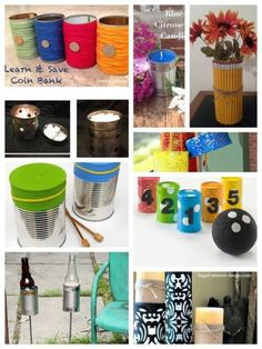 Multiple uses for tin cans