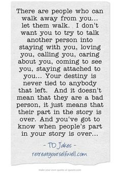 When a person is no longer a part of your story...
