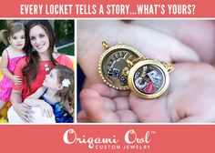 Adorable family Living Locket with her daughters initials inside!