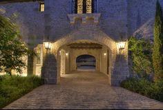 Porte-Cochere - Tuscan villa