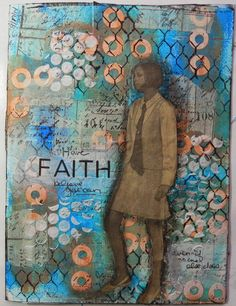 Art journal page by Christy Butters with a step by step background tutorial included