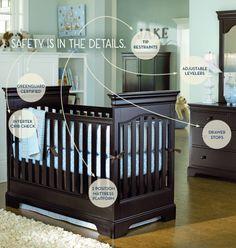 Young America Baby Cribs #hamptons #hildreths #youngamerica #kidsfurniture #dreamhome #kidsroom #babyroom #crib #infant #newborn