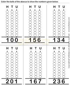 Abacus7 - math Worksheets - preschool Worksheets