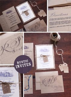 Rustic barn invitations that I love