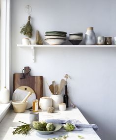 kelli cain. joan platt. mirena kim. farmhouse pottery. black walnut board and raw honey Westwind orchard.