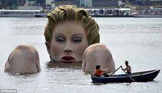 water, bathing, lakes, contemporary art, art sculptures, artist, statu, ice sculptures, hamburg