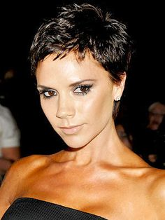 not a 'Posh' fan but thought she looked best with a super short cut, she's got the bone structure for it