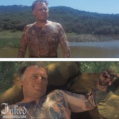 Best Tattoos In Movies-Pt3 : Inked Magazine - Rod Steiger in The Illustrated Man #tattoo #tattoos #movies #inkedmag #celebrities #celebritieswithtattoos #actor #actress