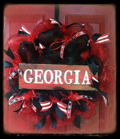 Georgia Bulldogs Wreath on Etsy, $58.00