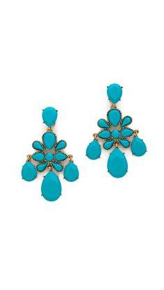 ODLR Turquoise Chandelier Earrings