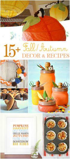 fall ideas and recipes