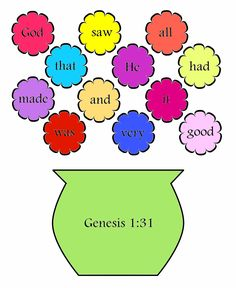 Color versions also of Bible verses for children to help them memorize the Scripture. Really cute!