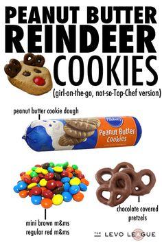 Peanut Butter Reindeer Cookies