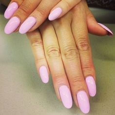 Almond Nails Pink on Pinterest
