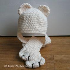 Crochet patterns crochet hat pattern baby bear crochet hat baby hat pattern crochet animal hat (82) newborn baby child sizes