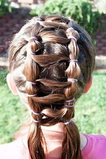 Jacob's Ladder Hairstyle (without weave) with Video Tutorial @ Princess Piggies