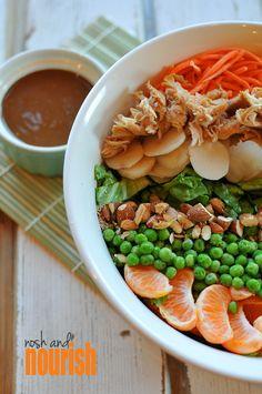 Asian Layered Salad // via Nosh and Nourish