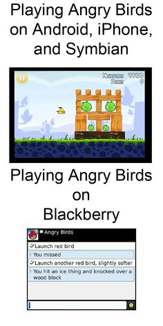 Angry Birds on a Blackberry