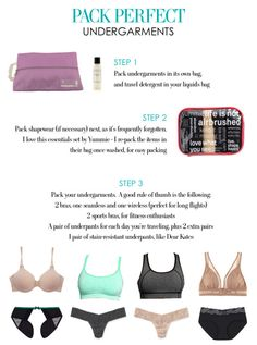 traveling packing tips, luxuri travel, travel organizers, pack underwear, packing lists, perfect underwear, pack travel, pack list, spain travel tips